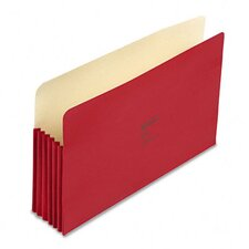 "Colorlife 5 1/4"" Expansion File Pocket, Straight Tab, Legal, 10/Box"