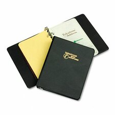 "Looseleaf Phone/Address Book, 1"" Capacity, 5-1/2 X 8-1/2"