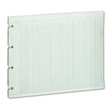 Accounting Sheets, 24 Column, 9-1/4 X 11-7/8, 100 Loose Sheets/Pack