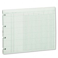 Accounting Sheets, 6 Column, 9-1/4 X 11-7/8, 100 Loose Sheets/Pack