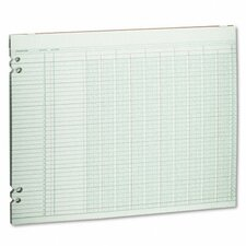 Accounting Sheets, 10 Columns, 11 X 14, 100 Loose Sheets/Pack
