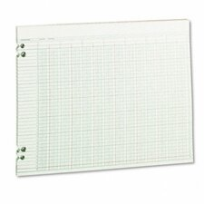 Accounting Sheets, 24 Columns, 11 X 14, 100 Loose Sheets/Pack