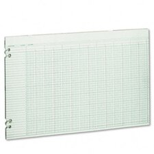 Accounting Sheets, 24 Columns, 11 X 17, 100 Loose Sheets/Pack