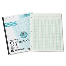 Accounting Pad, Eight 6-Unit Columns, 8-1/2 x 11, 50-Sheet Pad, 2012