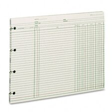 <strong>Wilson Jones</strong> Accounting, 9-1/4 X 11-7/8, 100 Loose Sheets/Pack