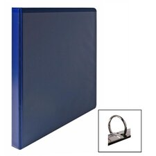 "<strong>Wilson Jones</strong> Vinyl Round Ring Locking View Binder, 1/2"" Capacity, Dark Blue"