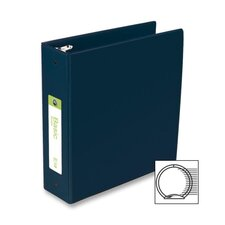 "Basic Vinyl Round Ring Binder, 3"" Capacity, Black"