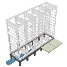 "RIB Series Raised Floor Support Angles, for DRK 31"" racks"