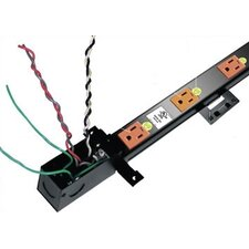 Long 20 Outlet, Configurable Single or Dual 20 Amp Circuit Thin Power Strip with J-Box