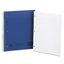 Mid Tier Single Subject Notebook, College Rule, Letter, 80 Sheets/Pad