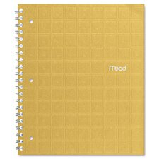 Recycled Notebook, 8 1/2 x 11, 80 Sheets, College Ruled, Perforated, Assorted