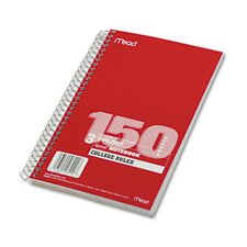 Spiral Bound Notebook, College Rule, 6 X 9-1/2, 3 Subject 150 Sheets/Pad
