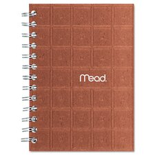 Recycled Notebook, 5 X 7, 80 Sheets, College Ruled, Perforated, Assorted