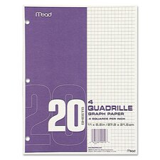<strong>Mead</strong> Quadrille Graph Paper, Quadrille, 8 1/2 X 11, 12 Pads/Pack