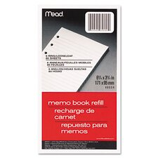 6-Ring Memo Book Refill, College Rule, 6Hp, 6-3/4 X 3-3/4, 80 Sheets