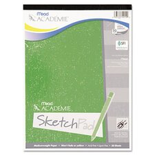 <strong>Mead</strong> Academie Sketch Pad, 9 x 12, White, 50 Sheets