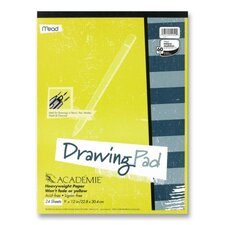 "<strong>Mead</strong> Drawing Pad, Heavy Weight, 9""x12"", 24 Sheets White"