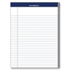 "Legal Pad, College Rule, 70 Sheets, 8-1/2""x11"", White, 3 Hole Punched"