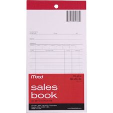 "4"" x 7.69"" Sales Book with Duplicates (50 Count)"