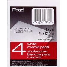 """3"""" x 5"""" Memo Pad (4 Count)"""