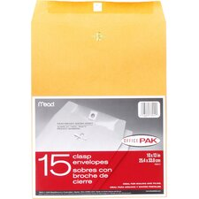"10"" x 13"" Clasp Envelope (15 Count)"
