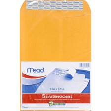 "9"" x 12"" Kraft Press-it-Seal Envelope (5 Count)"