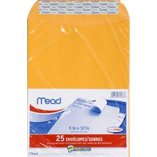 "9"" x 12"" Kraft Press-it-Seal-it Envelope (25 Count)"