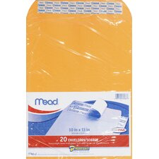 "10"" x 13"" Kraft Press-it-Seal-it Envelope (20 Count)"