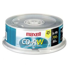 Spindle Cd-Rw Discs, 700Mb/80Min, 4X, 25/Pack
