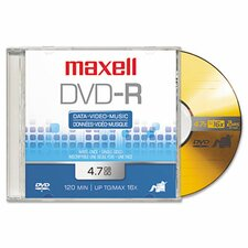 <strong>Maxell Corp. Of America</strong> Dvd-R Discs, 4.7Gb, 16X, 5/Pack