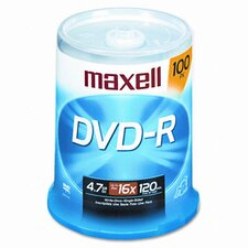 Spindle Dvd-R Discs, 4.7Gb, 16X, 100/Pack