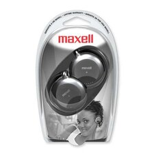 <strong>Maxell Corp. Of America</strong> Stereo Ear Clips, 3.5mm Plug, 4' Rubber Cord, Black