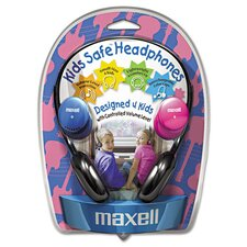 <strong>Maxell Corp. Of America</strong> Kids Safe Headphones