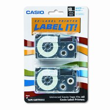 Tape Cassettes for Kl Label Makers, 18Mm X 26Ft, 2/Pack