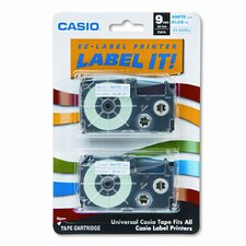9WEB2S Tape Cassettes for Kl Label Makers, 9Mm X 26Ft, 2/Pack