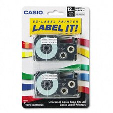 Tape Cassettes For Kl Label Makers, 12Mm X 26Ft, 2/Pack