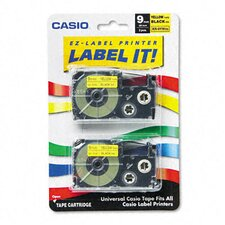 <strong>Casio®</strong> Tape Cassettes for Kl Label Makers, 9Mm X 26Ft, 2/Pack