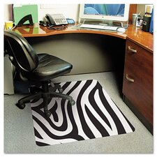 <strong>E.S. ROBBINS</strong> Zebra Medium Pile Carpet Chair Mat