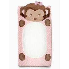Girl Monkey Plush Changing Pad Cover