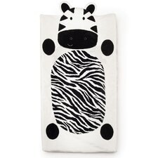 Zebra Plush Changing Pad Cover