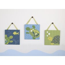Turtle Reef Crib Canvas Wall Art (Set of 3)