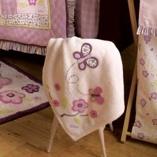<strong>CoCaLo Baby</strong> Sugar Plum Appliqued Sherpa Blanket