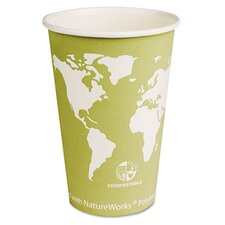 <strong>Eco-Products, Inc</strong> World Art Renewable Resource Compostable Hot Cups, 16 Oz, 1000/Carton
