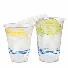 <strong>Eco-Products, Inc</strong> Bluestripe Recycled Content Cold Drink Cups, 9 Oz., 50/Pack
