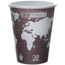 World Art Renewable Resource Compostable Hot Drink Cup in Plum