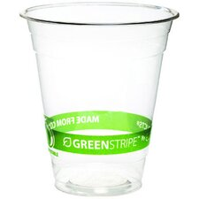 GreenStripe Renewable Resource Compostable Cold Drink Cup in Clear