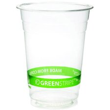 <strong>Eco-Products, Inc</strong> GreenStripe Renewable Resource Compostable 16 oz Cold Drink Cup in Clear