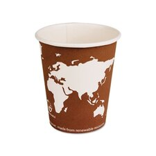 World Art Renewable Resource Compostable Hot Drink Cups, 10 Oz, 50/Pack