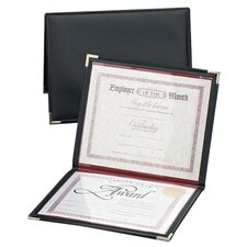 "Diploma and Certificate Holder, 12""x9"", Black/Red Lining"