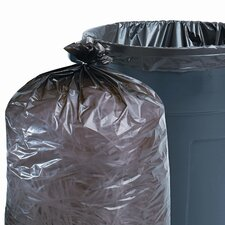 Total Recycled Plastic Trash Garbage Bags, 33 Gal, 1.5Mil, 33X40, 100/Carton